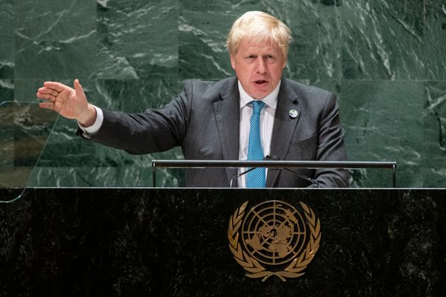 Boris Johnson addresses the 76th Session of the United Nations General