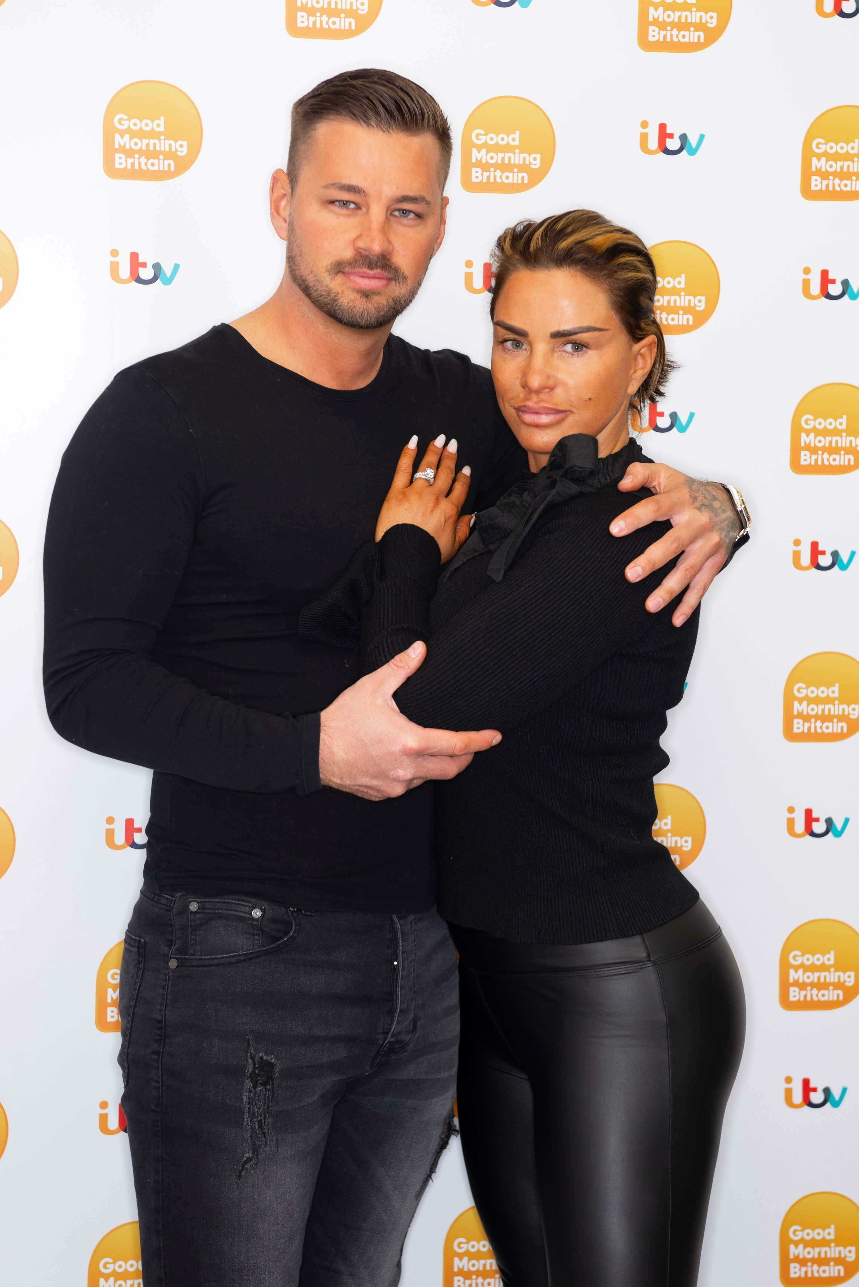 Katie Price's Fiancé Carl Woods Gets A Third Tattoo Of Her Face... And It's Huge