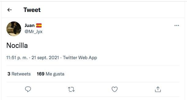 El tuit al que ha respondido