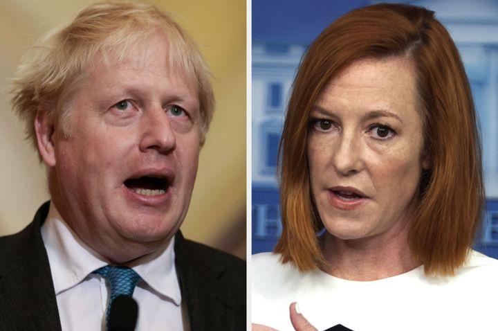 Boris Johnson and Jen Psaki