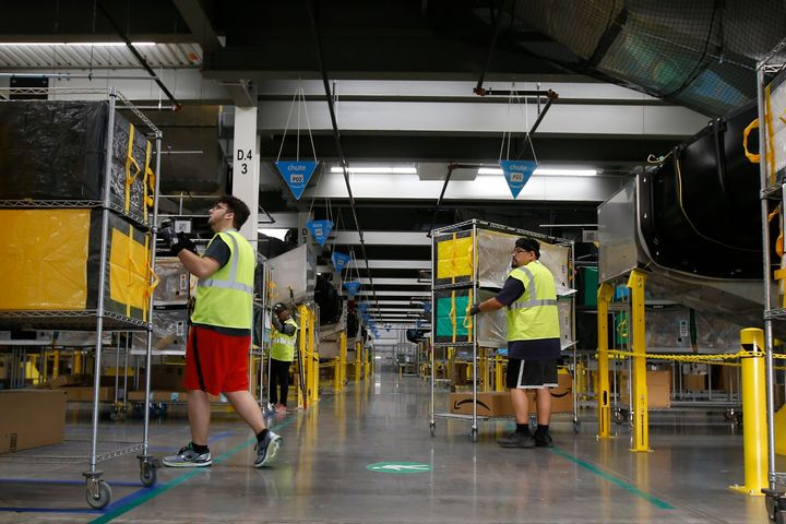 The new law applies to all large warehouses in California, but lawmakers crafted it with Amazon in mind.