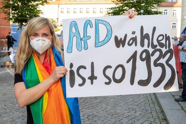 Protesta en Sajonia contra la ultraderecha: