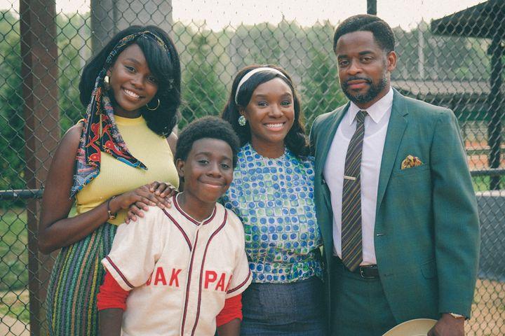 "Laura Kariuki, Elisha Williams, Saycon Sengbloh and Dulé Hill in ABC's ""The Wonder Years."""