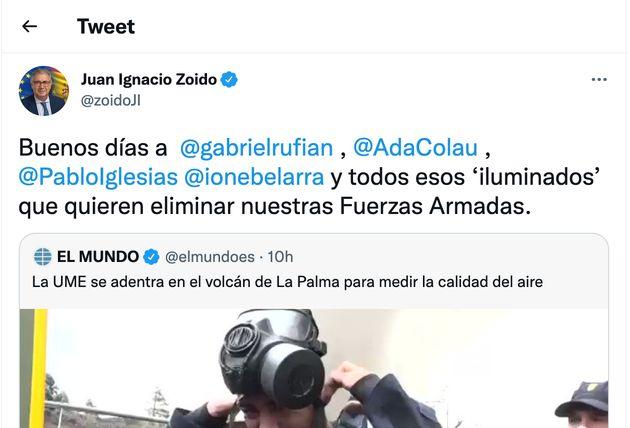 Tuit de Juan Ignacio