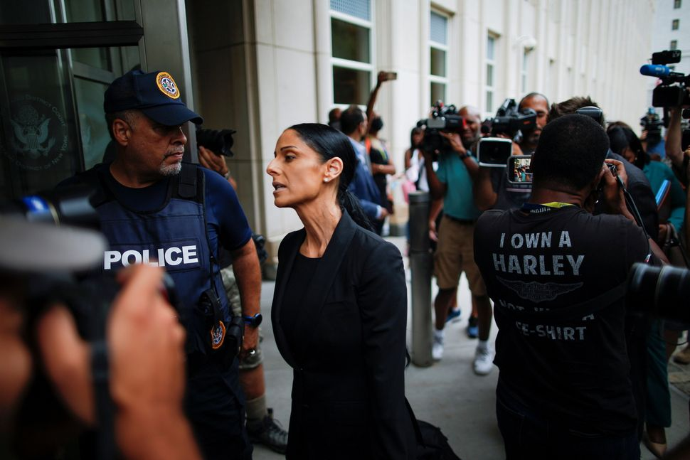 R. Kelly's defense attorney Nicole Blank Becker arrives at the Brooklyn federal courthouse in New York on Aug. 18, 2021.