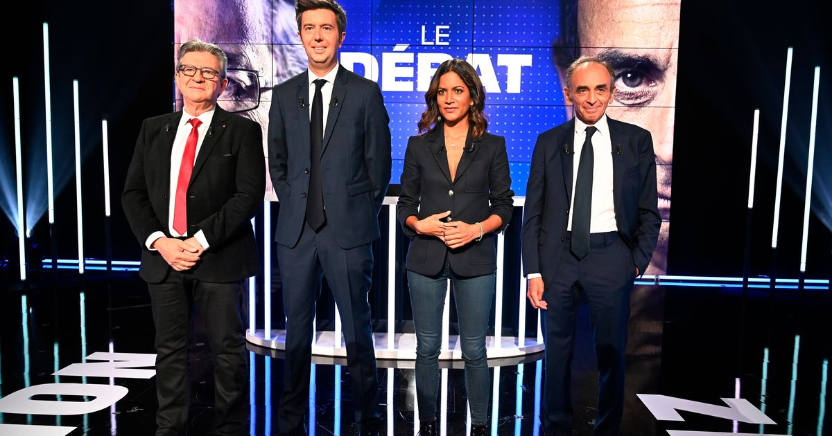 Zemmour et Mélenchon sur BFM, deux visions de la France entre coups de chaud et monologues