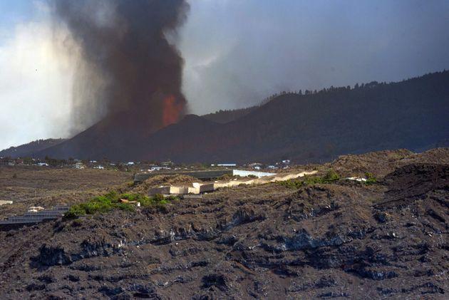 El volcán de Cumbre Vieja, en La
