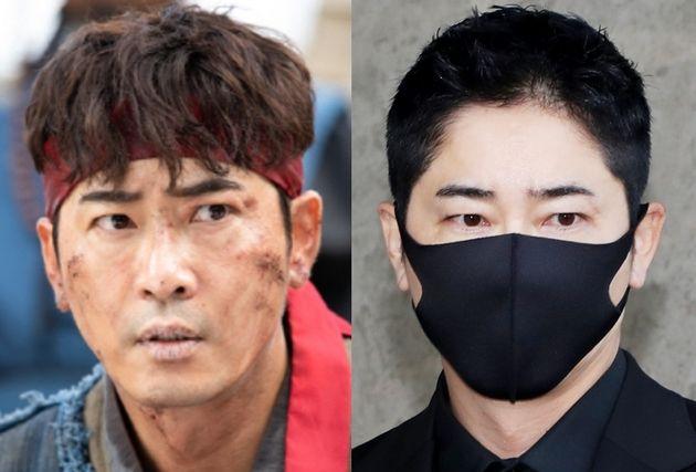 TV조선 '조선생존기' 출연했을 당시의 모습(좌) / 법원에 출두하는