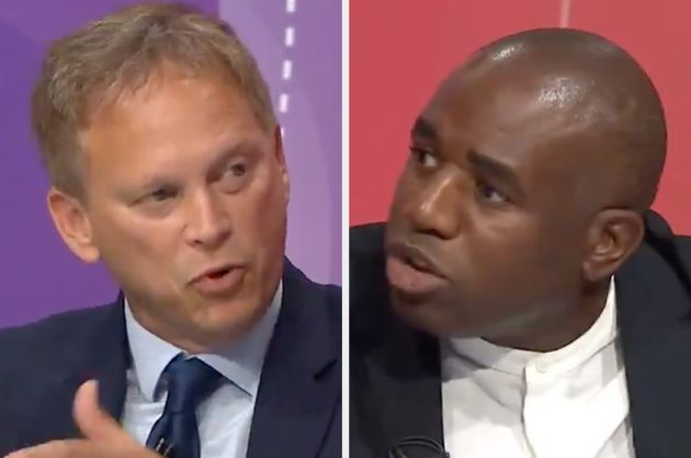 Grant Shapps and David Lammy during BBC Question