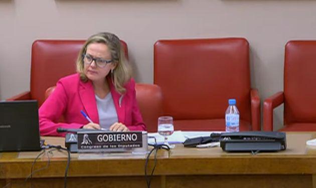 Nadia Calviño reacciona a las palabras de Espinosa de los Monteros