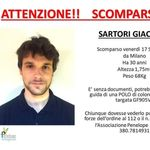 Ritrovato il corpo di Giacomo Sartori: si è