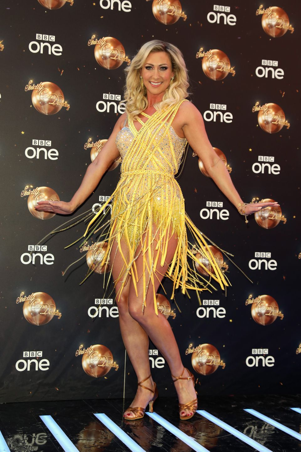 Faye took part in Strictly in
