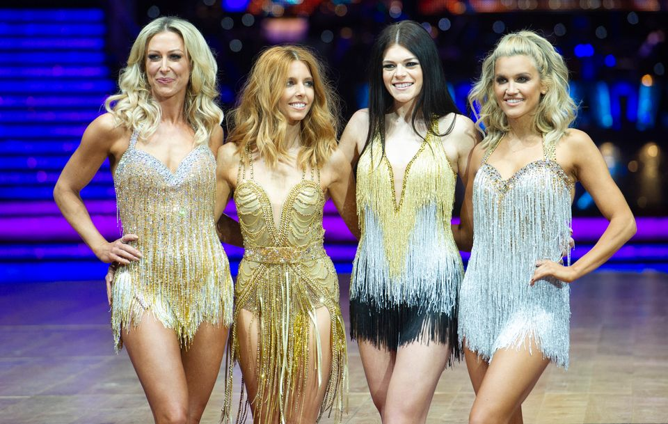 Faye with fellow contestants Stacey Dooley, Lauren Steadman and Ashley