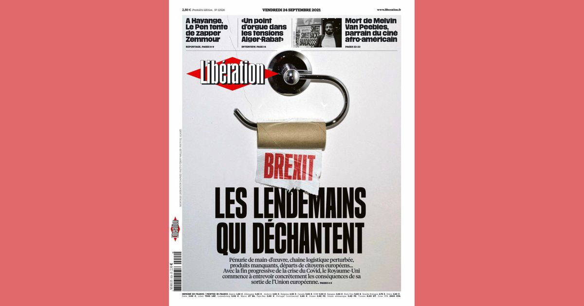 Brutal French Newspaper Front Page Takes Aim At Brexit Britain