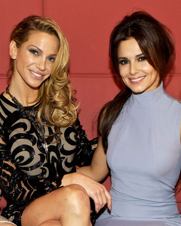 Sarah Harding and Cheryl pictured in