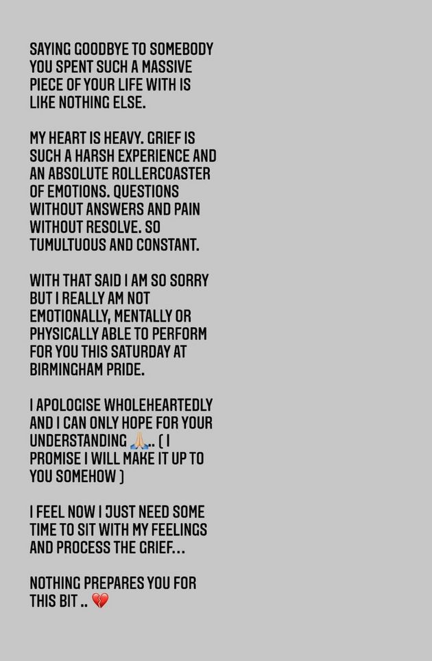 Cheryl posted this statement on