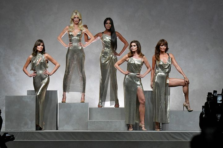 A Versace show in 2017 reunited '90s supermodels Carla Bruni, Claudia Schiffer, Naomi Campbell, Cindy Crawford and Helena Christensen — but Linda Evangelista said she was forced to decline the work.