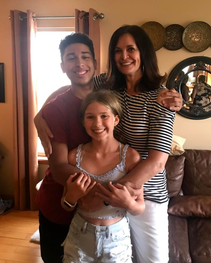 Kelly James and her children, Ryan Enger (16) and Haley Enger (11), Memorial Day, 2021.