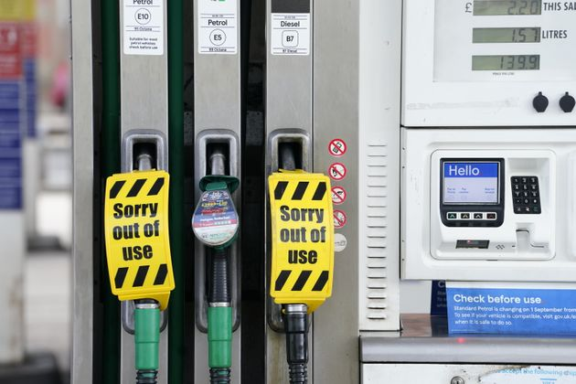 A petrol station in Sheffield which is closed due to having no