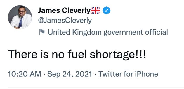 'There Is No Fuel Shortage!!!': UK Government Tries To Calm