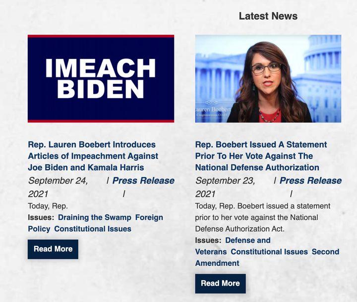 "Rep. Lauren Boebert (R-Colo.) is vowing to ""imeach"" President Joe Biden."