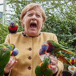 Η βόλτα της Μέρκελ σε πάρκο πουλιών δεν πήγε καθόλου
