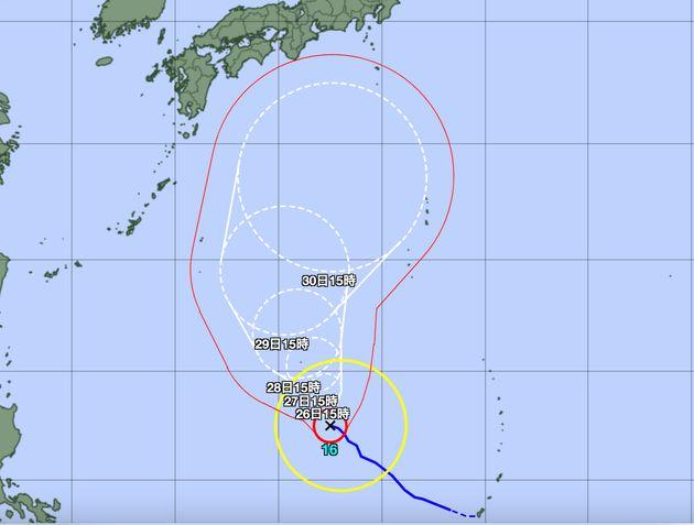 気象庁の台風経路図