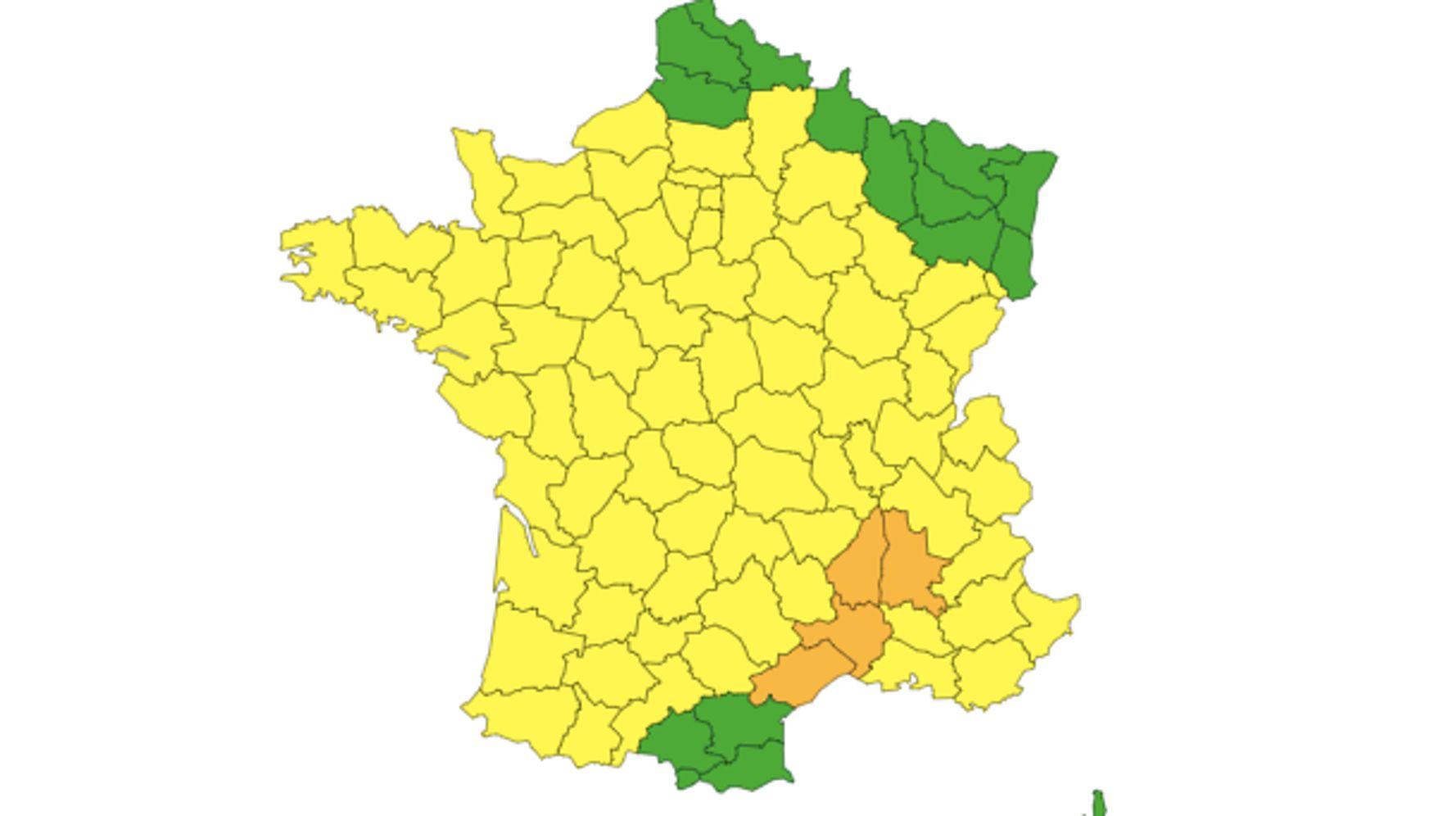 Météo: Le Gard, l'Hérault, la Drôme et l'Ardèche en vigilance orange