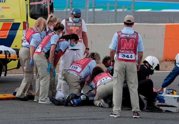 Los médicos atienden a Dean Berta tras su grave
