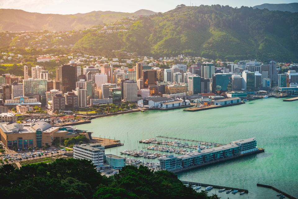 Wellington, New Zealand - November 20, 2019: a panoramic view of Wellington from the top of Mount