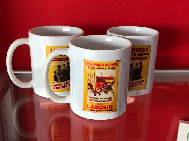Mugs on sale at Labour Party conference
