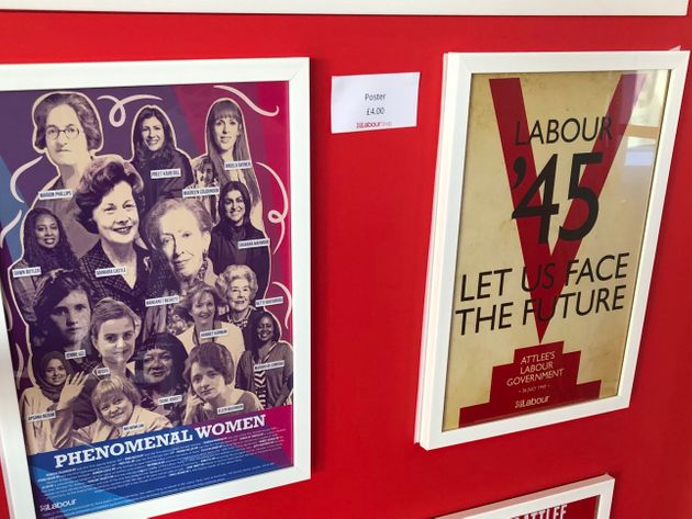 Posters on sale at Labour Party conference