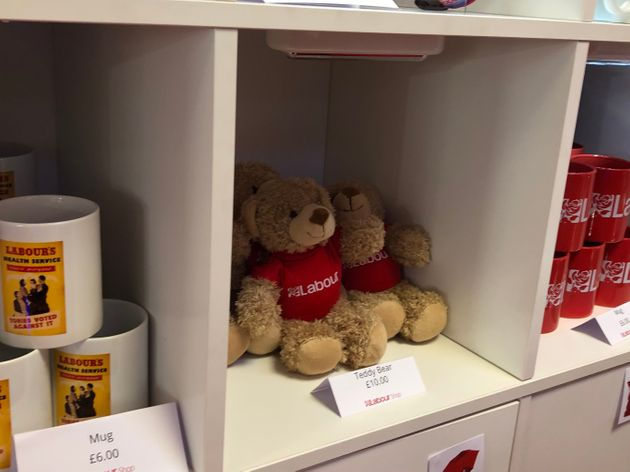 Teddy bears on sale at Labour Party conference