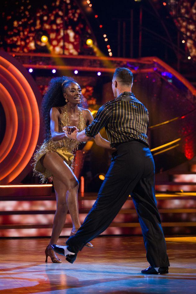 AJ Odudu and Kai Widdrington on the Strictly dance