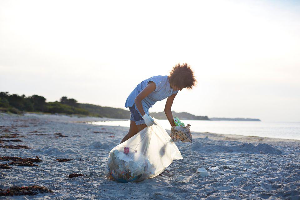 limpieza de la playa