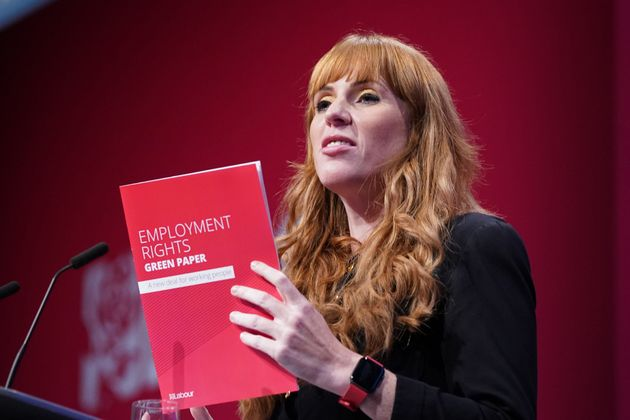 Labour deputy leader Angela Rayner speaks at the Labour Party conference in