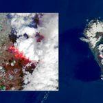 La primera imagen vía satélite del volcán de La Palma revela este desolador
