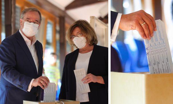"""Germania, gaffe di Laschet alle urne: piega male la scheda col voto in mostra. Bild: """"Non valido?"""""""