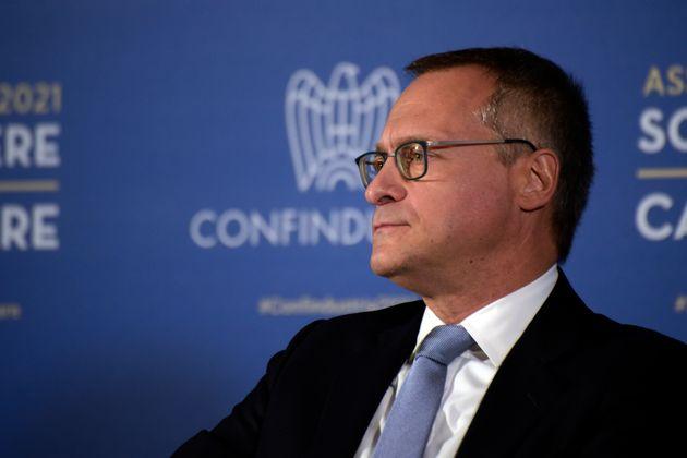 ROME, ITALY - 2021/09/23: The president of Confindustria Carlo