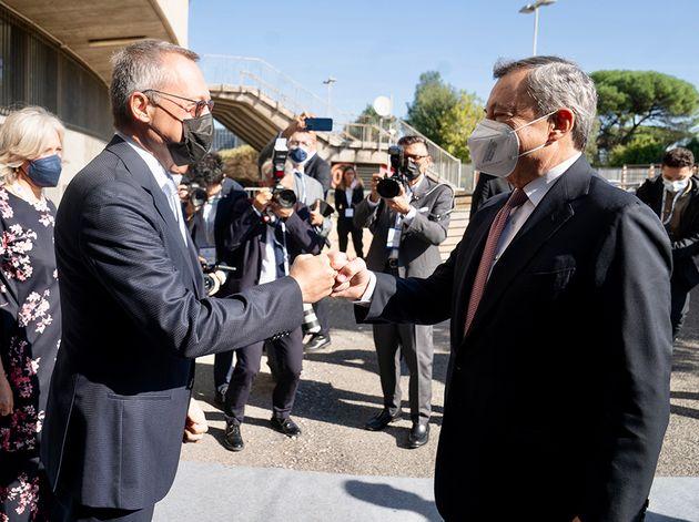23/09/2021 Roma, il Presidente del Consiglio Mario Draghi partecipa all'Assemblea della Confindustria,...