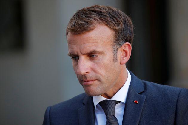 Emmanuel Macron ici sur le perron de l'Élysée le 24 septembre 2021. REUTERS/Gonzalo