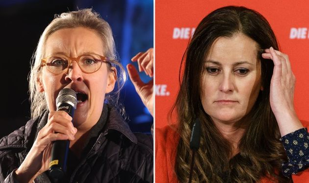 Alice Weidel (Afd) e Janine Wissler (Die