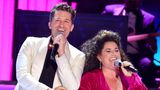 NEW YORK, NEW YORK - SEPTEMBER 26: Matthew Morrison and Marissa Jaret Winokur perform onstage during the 74th Annual Tony Awards at Winter Garden Theatre on September 26, 2021 in New York City. (Photo by Theo Wargo/Getty Images for Tony Awards Productions)