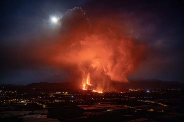 La lava tras la erupción del volcán en Cumbre Vieja, en La