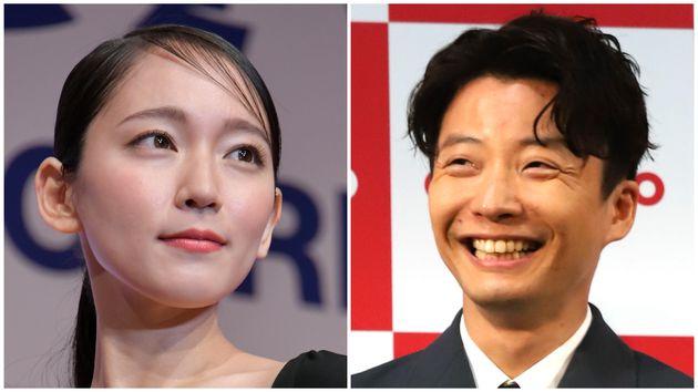 吉岡里帆さん(左)と星野源さん(右)