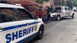 Sheriff deputies confiscate a van in Manhattan being used as an Airbnb rental.