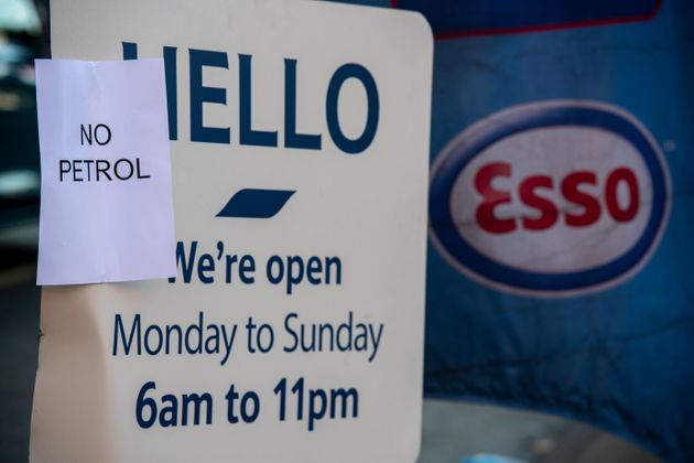 Petrol stations around the country are running out of