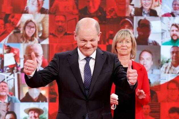 El candidato socialdemócrata a la Cancillería alemana, Olaf
