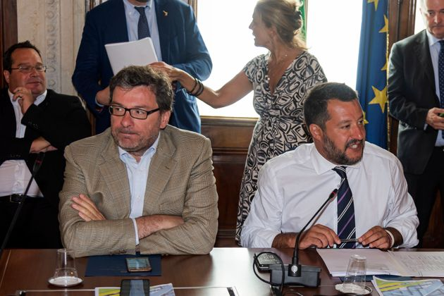 ROME, ITALY - AUGUST 06: The undersecretary of the Council of Ministers Giancarlo Giorgetti and Interior...