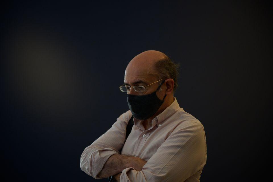 Ο Μάνος Δημητρακόπουλος στο στήσιμο της